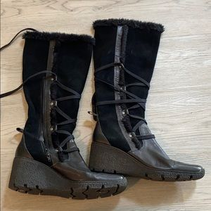 Nine West Leather Suede Boots 10